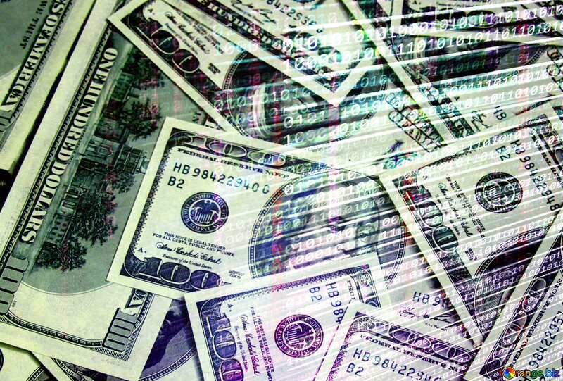 Dollars internet digital background №1507