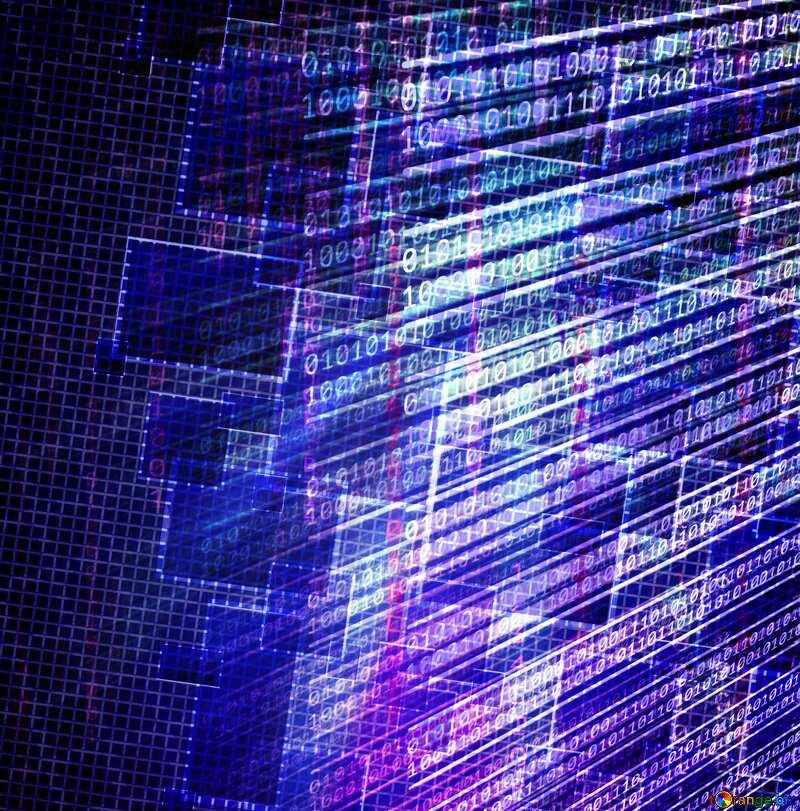 Technology background internet media blue squares №49678