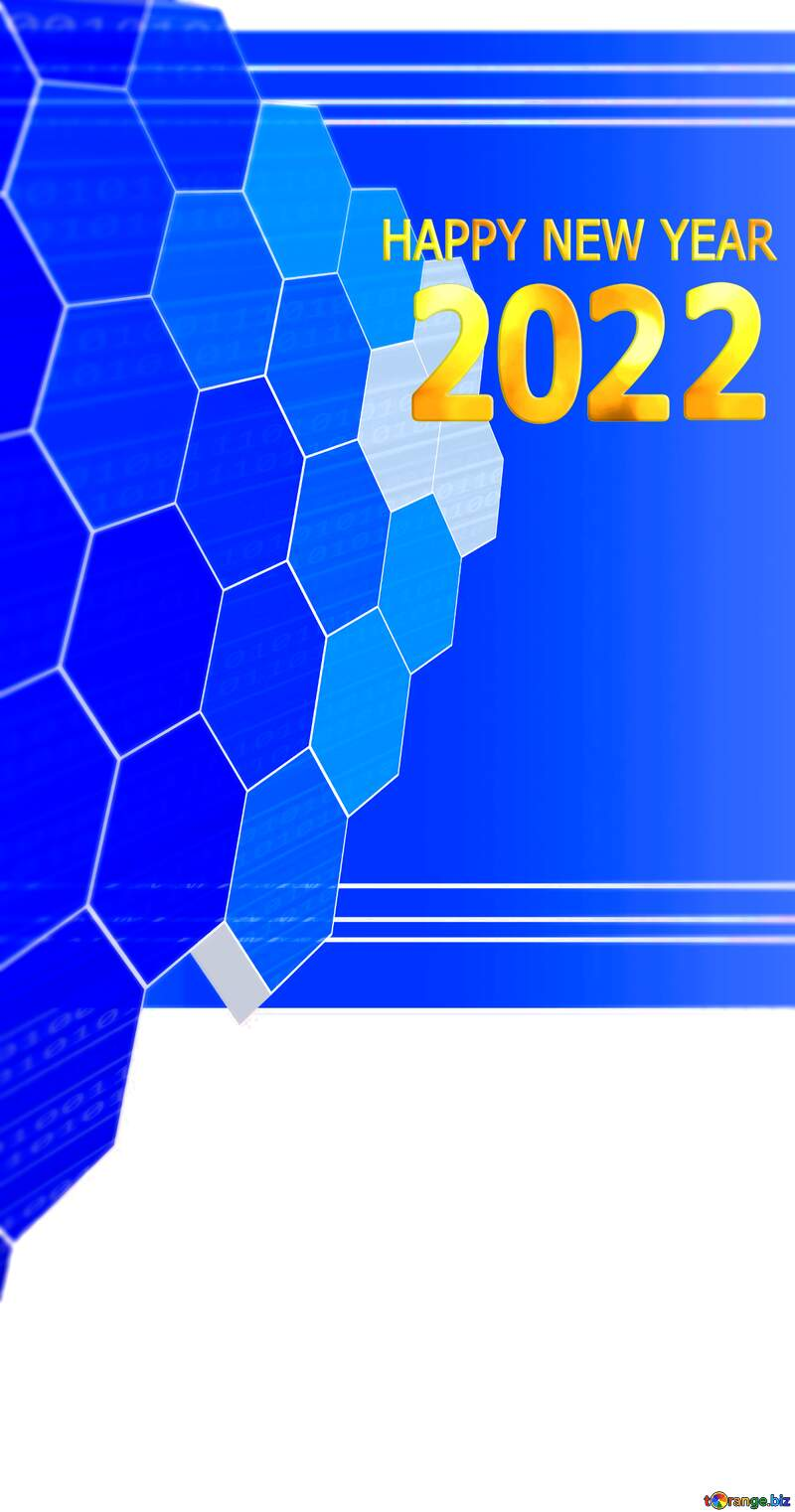 it business information technology concept background happy new year 2022 №49674