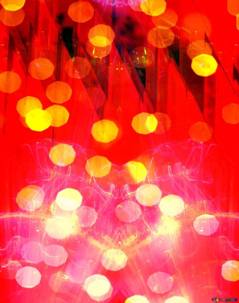 Lights template bokeh red  Futuristic Geometric №51526