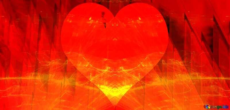 Lights template Love Heart Futuristic №51526