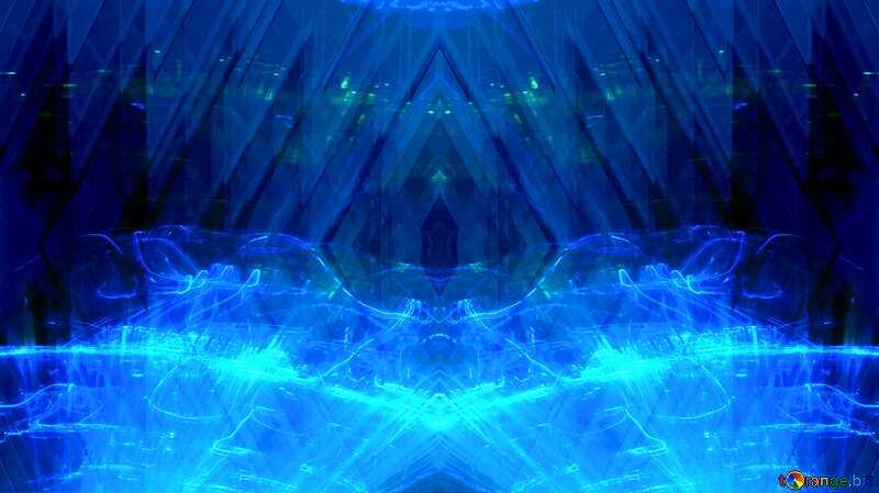 Lights template Technology Geometric Pattern blue №51526