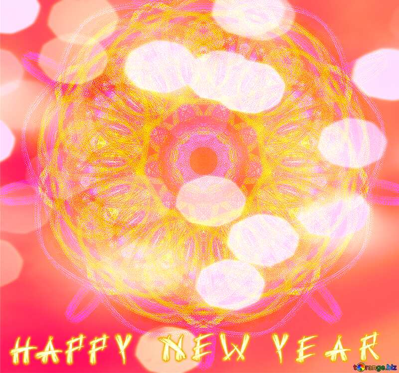Ornament background Happy New Year №40319