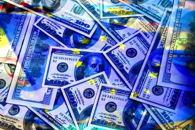 Dollars euro flag background №1507