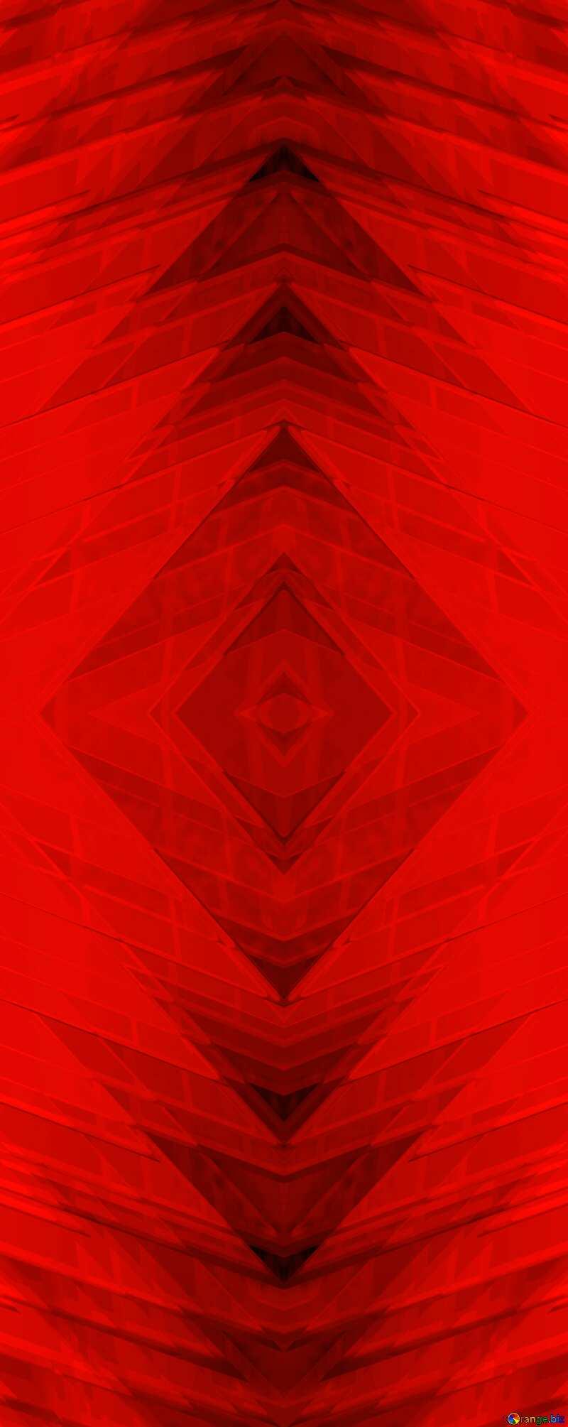 Red futuristic shape.  3D rendering geometric technology illustration.  Geometric Pattern №51526