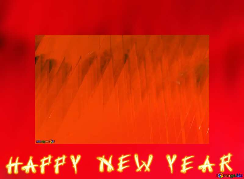 Red futuristic shape.  3D rendering geometric technology illustration.  Happy New Year №51526