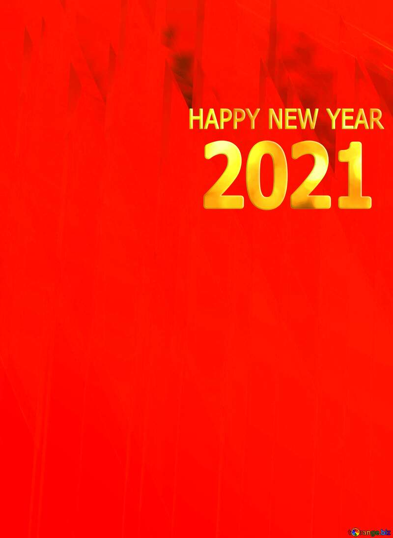 Red futuristic shape.  3D rendering geometric technology illustration.  Happy New Year 2021 №51526