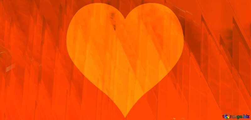 Red futuristic shape.  3D rendering geometric technology illustration.  Heart Love №51526