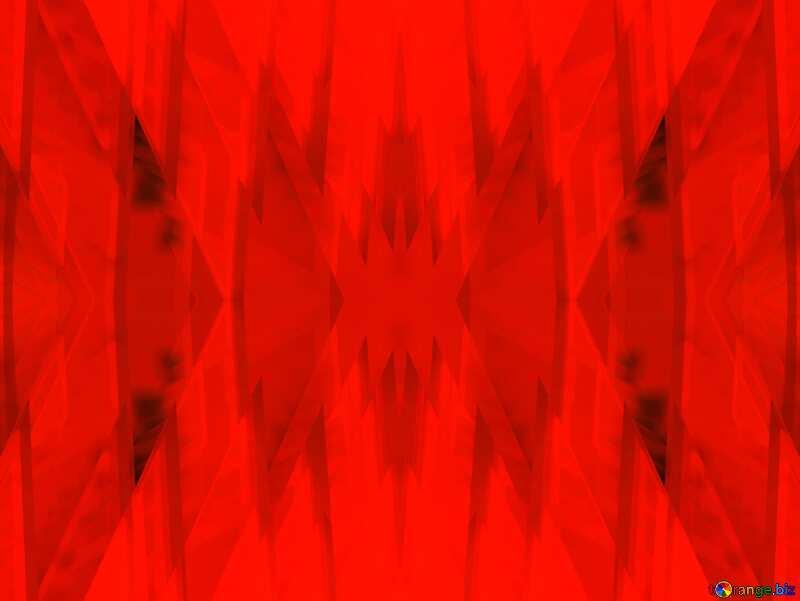 Red futuristic shape.  3D rendering geometric technology illustration.  Pattern №51526