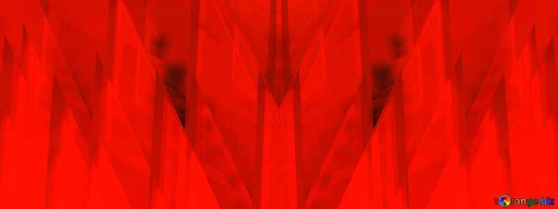 Red futuristic shape.  3D rendering geometric technology illustration.  Pattern Illustration №51526