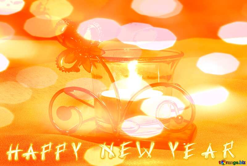 Romantic Snowy Evening Happy New Year №15209