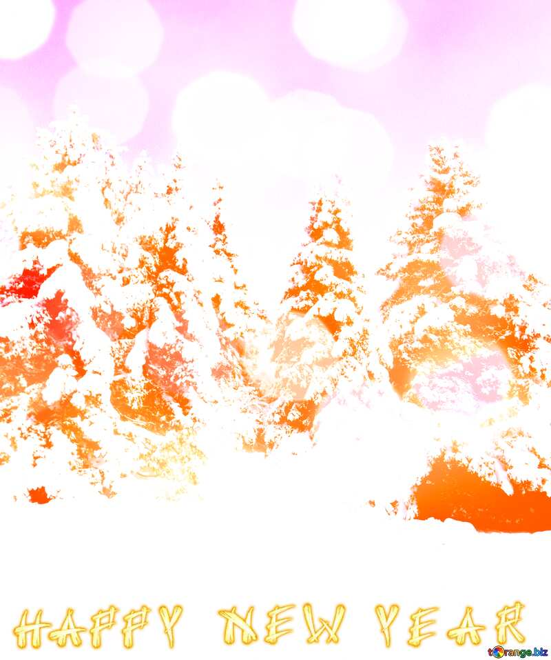 Tree  Snow  sun  Happy New Year №10576