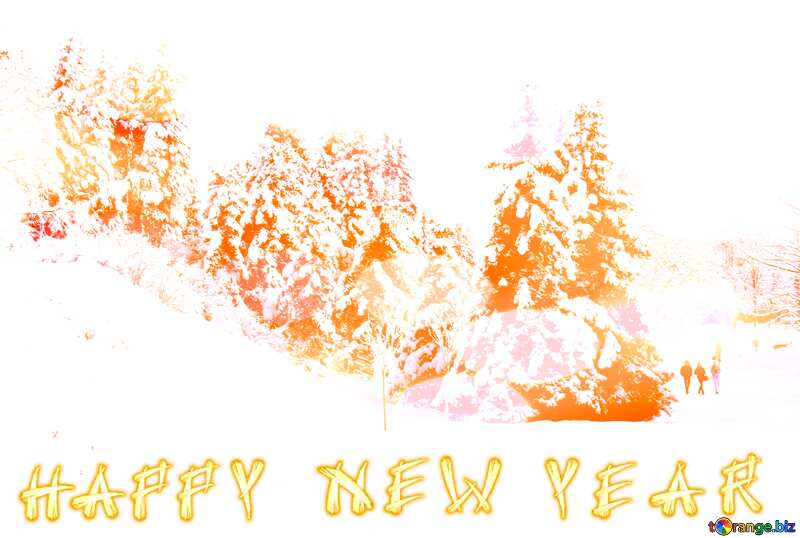 Tree  Snow  sun Happy New Year №10526