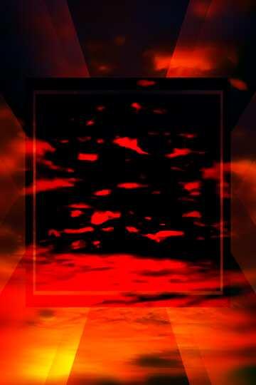Die Wirkung des dunklen. Sehr klare Farben. Unschärfe Rahmen.