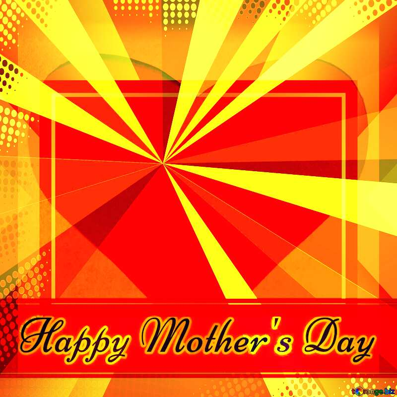 Creating card for Happy Mother`s Day background with heart and rays powerpoint website infographic template banner layout design responsive brochure business №49670