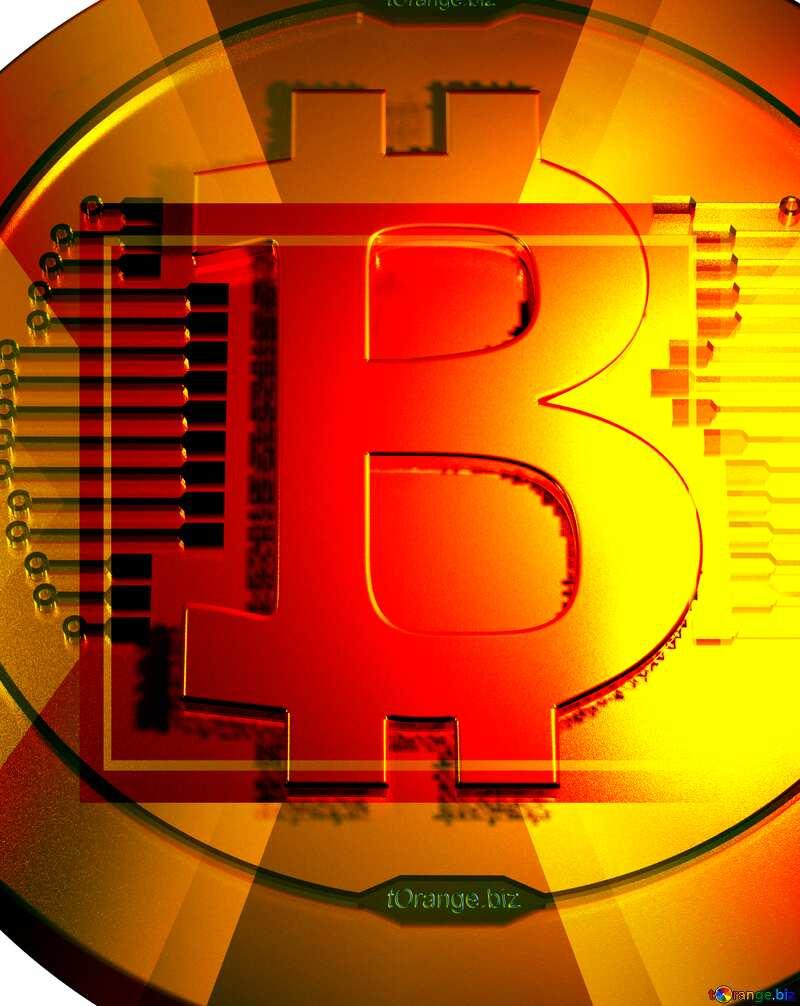 Bitcoin gold money  powerpoint website infographic template banner layout design responsive brochure business №51518