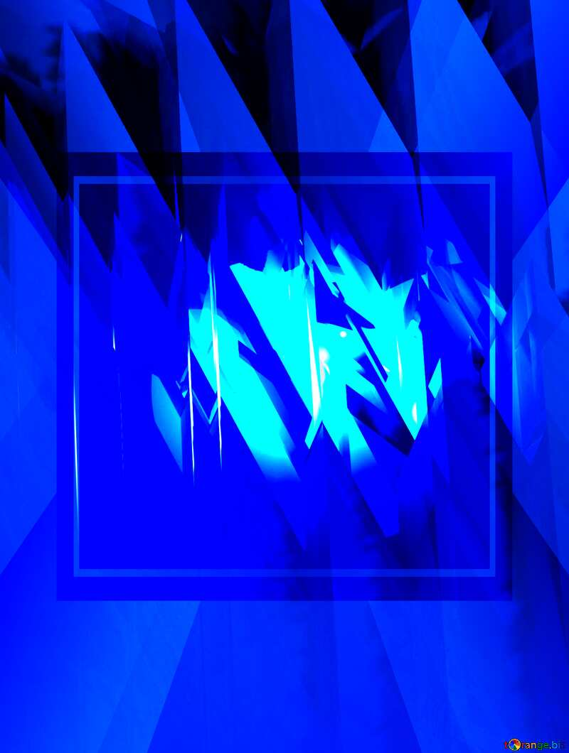 Blue futuristic shape. Computer generated abstract background.  powerpoint website infographic template banner layout design responsive brochure business №51524