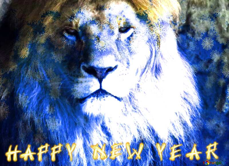 lion card text happy new year №44974