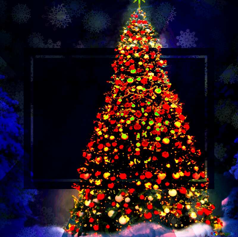 Christmas tree  powerpoint website infographic template banner layout design responsive brochure business №40739