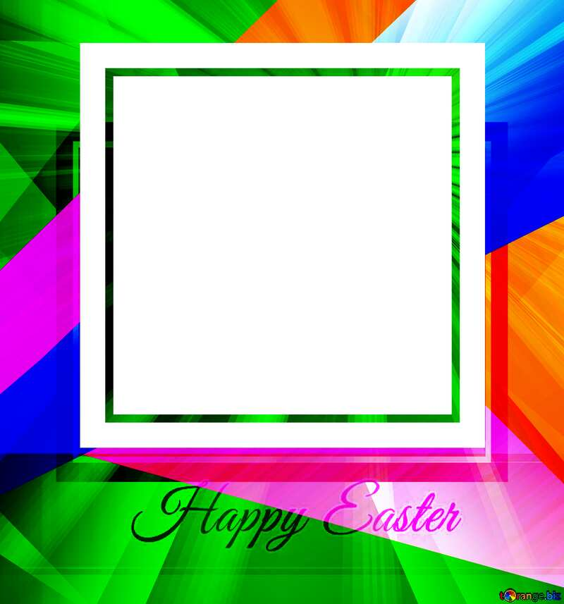 Colorful card template frame with Inscription Happy Easter on Background with Rays of sunlight   powerpoint website infographic template banner layout design responsive brochure business №49675