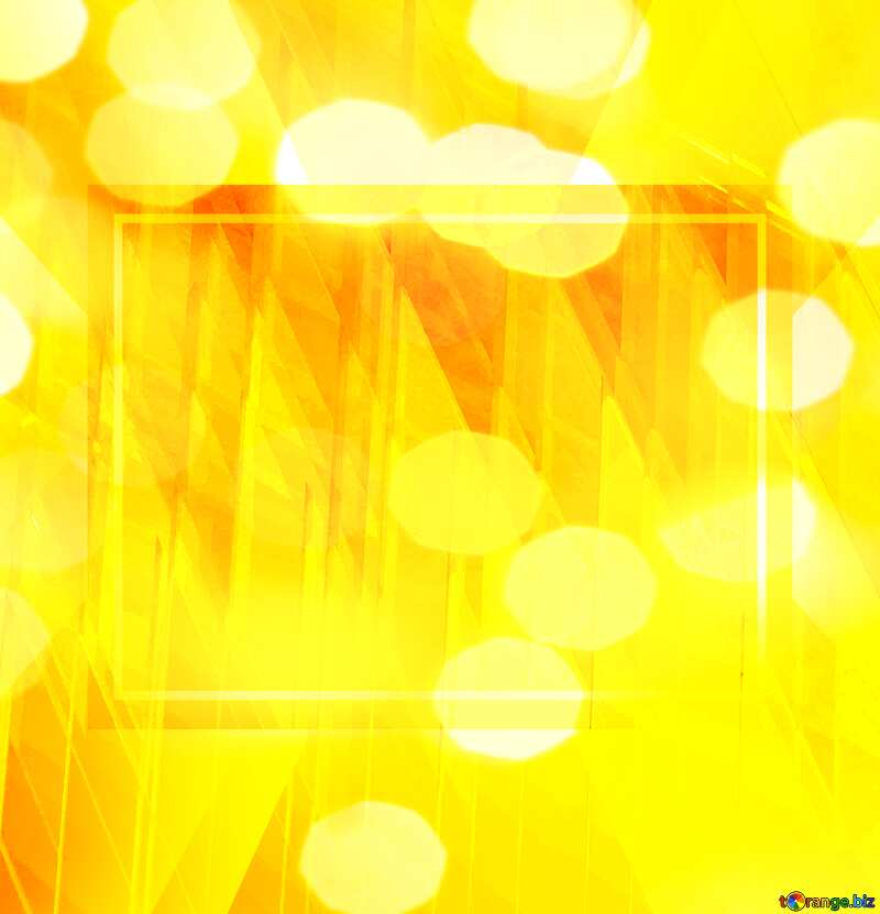 yellov bokeh futuristic shape.  3D rendering geometric technology illustration.   powerpoint website infographic template banner layout design responsive brochure business №51526