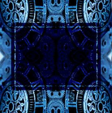 The effect of stained blue. Fragment. Pattern.