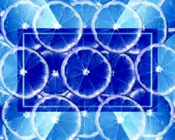 El efecto de la luz. El efecto de teñido azul.