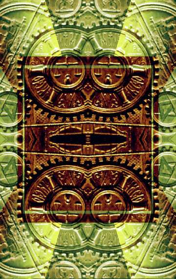 The effect of light. The effect of stained green. Fragment. Frame Pattern.