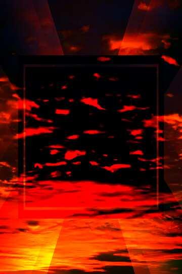 Die Wirkung des dunklen. Sehr klare Farben. Das Schablonenbild mit einem Herz.