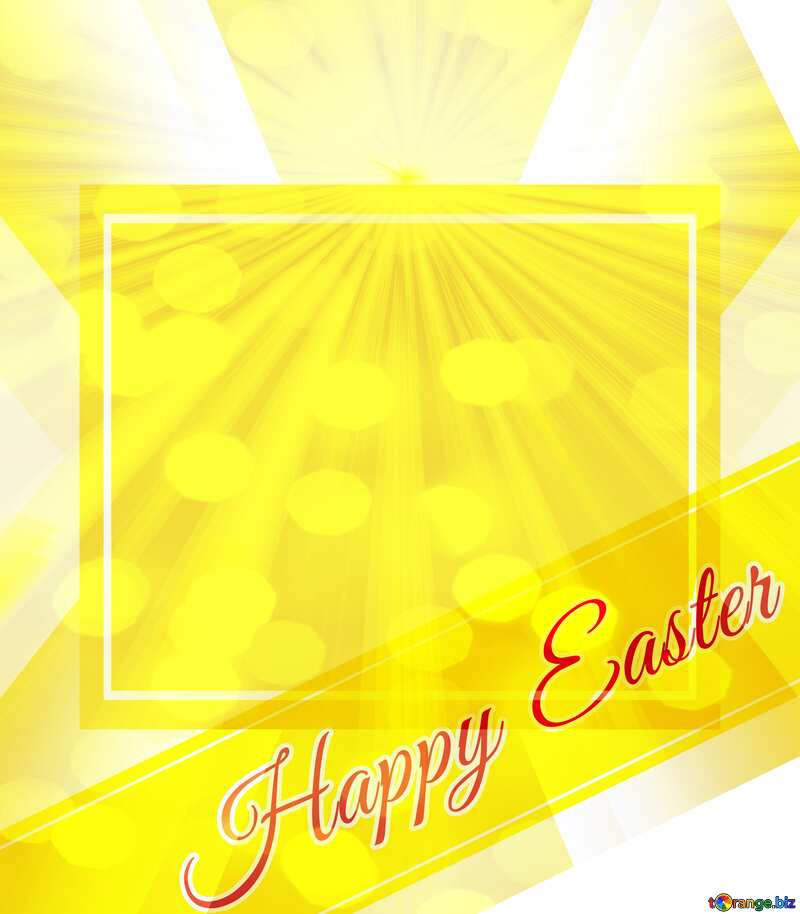 Inscription Happy Easter and Sun-rays on bokeh background   powerpoint website infographic template banner layout design responsive brochure business №49668