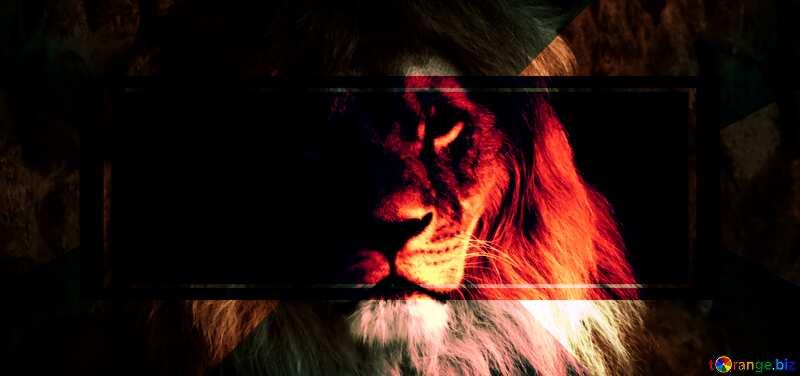 lion dark red powerpoint website infographic template banner layout design responsive brochure business №44974