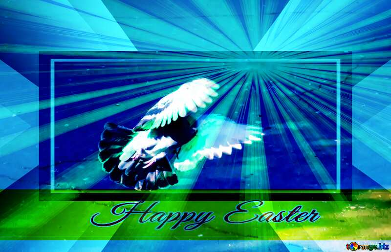 Happy Easter Background With Pigeon powerpoint website infographic template banner layout design responsive brochure business №42207