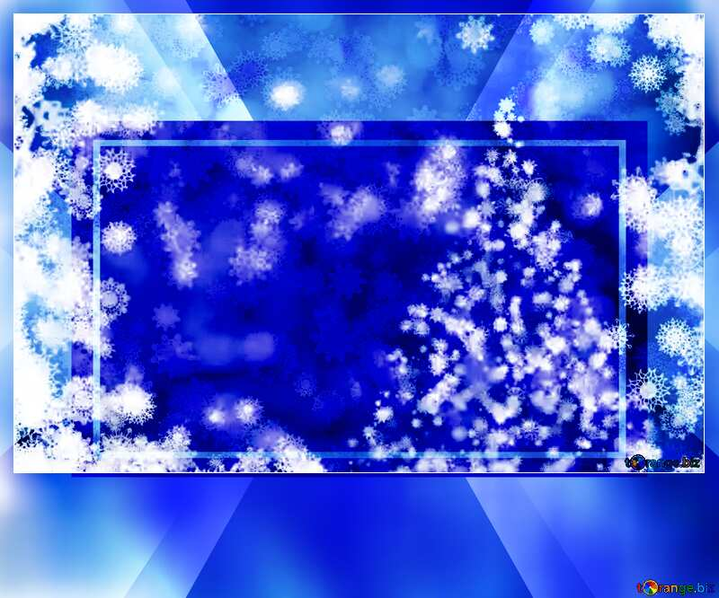 Blue Christmas Card Background powerpoint website infographic template banner layout design responsive brochure business №40703