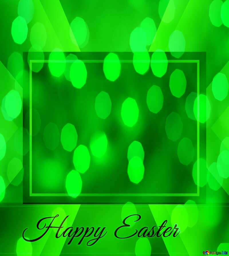 Inscription Happy Easter green background   powerpoint website infographic template banner layout design responsive brochure business №49668