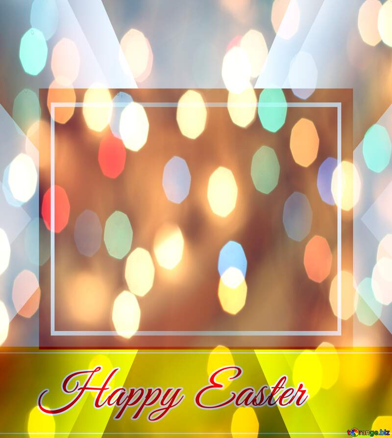 Inscription Happy Easter colorful  background   powerpoint website infographic template banner layout design responsive brochure business №49668