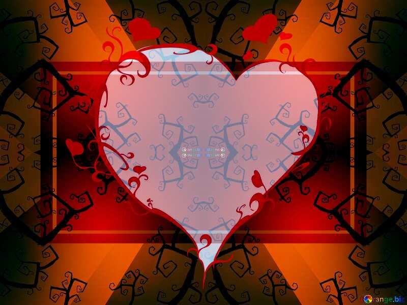 Beautiful Halloween heart frame background powerpoint website infographic template banner layout design responsive brochure business №40591