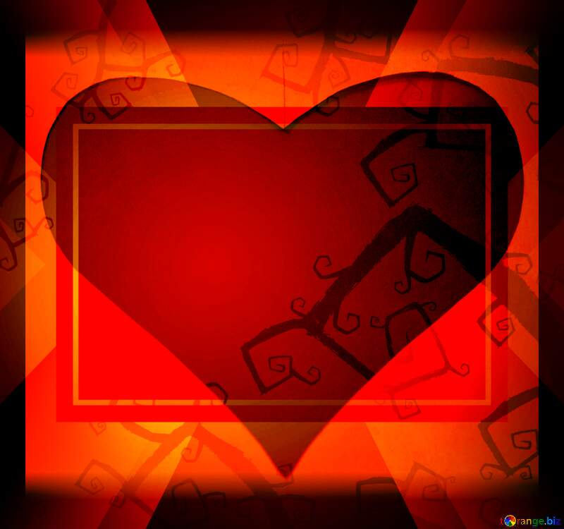 Love Red heart Halloween background powerpoint website infographic template banner layout design responsive brochure business №40593