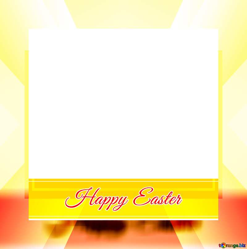 Frame with Inscription Happy Easter       powerpoint website infographic template banner layout design responsive brochure business №49668