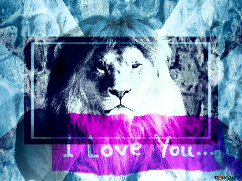 lion I love you powerpoint website infographic template banner layout design responsive brochure business №44974