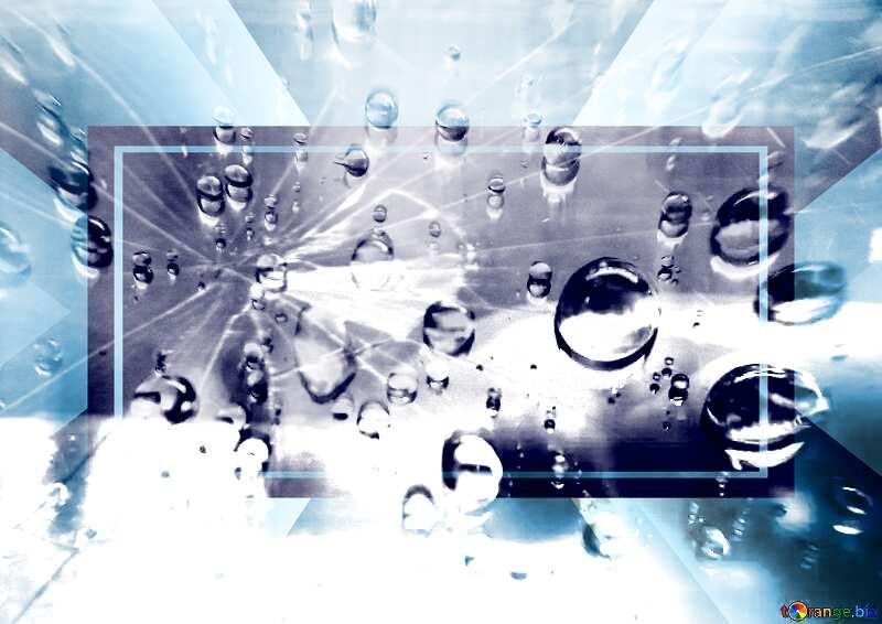 Broken glass  Raindrops macro background  powerpoint website infographic template banner layout design responsive brochure business №47981