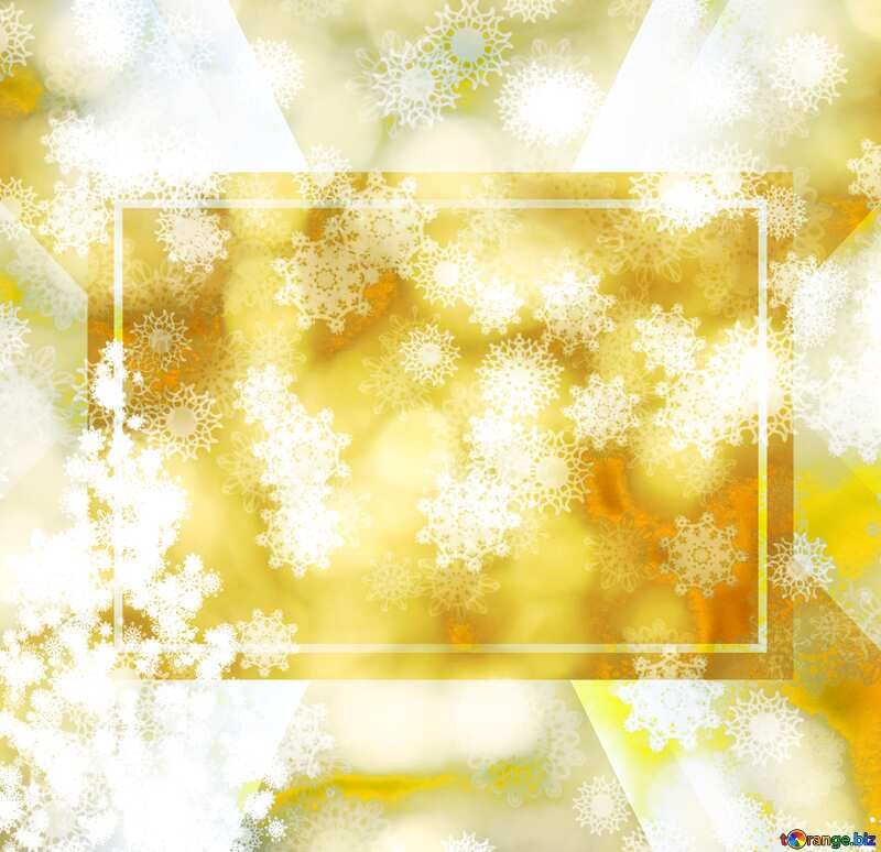 Gold christmas Snowflakes background powerpoint website infographic template banner layout design responsive brochure business №40671