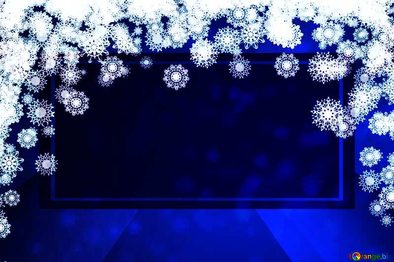 Blue background Christmas and new year powerpoint website infographic template banner layout design responsive brochure business №40710