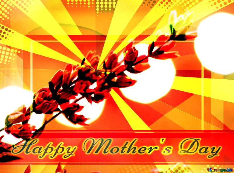 Wild flower Creating card for Happy Mother`s Day background with heart and rays powerpoint website infographic template banner layout design responsive brochure business №48637