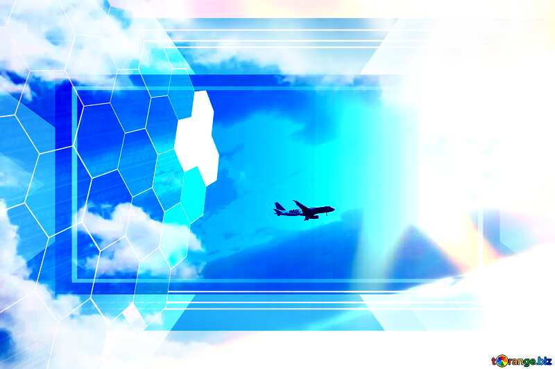 Plane in the sky Tech business information concept image for presentation powerpoint website infographic template banner layout design responsive brochure business №37678
