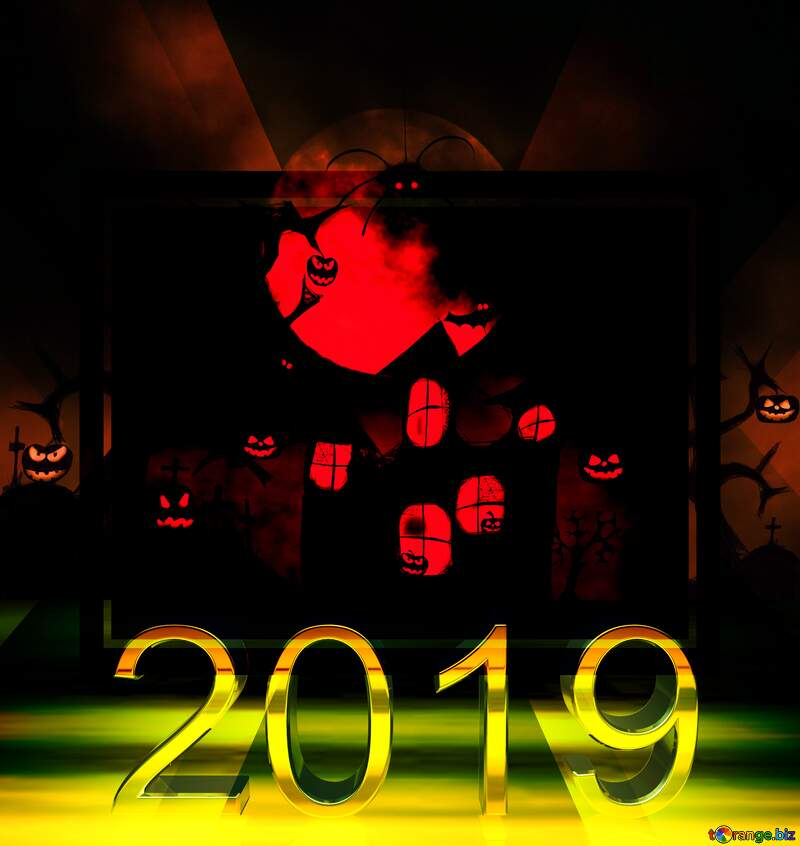 Halloween wallpaper for desktop powerpoint website infographic template banner layout design responsive brochure business 2019 №40470