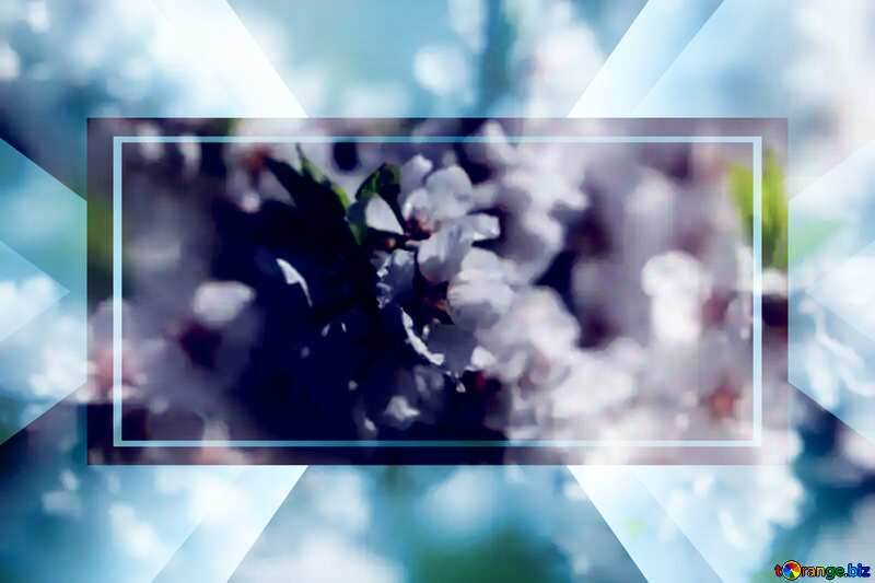 Spring blooming background powerpoint website infographic template banner layout design responsive brochure business №39771