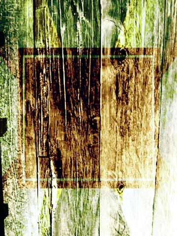 The effect of rotation. The effect of light. The effect of stained green.
