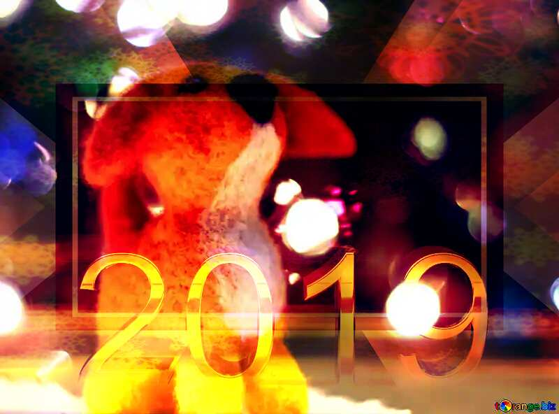Download free picture Happy new year 2019 bokeh puppy dog ...