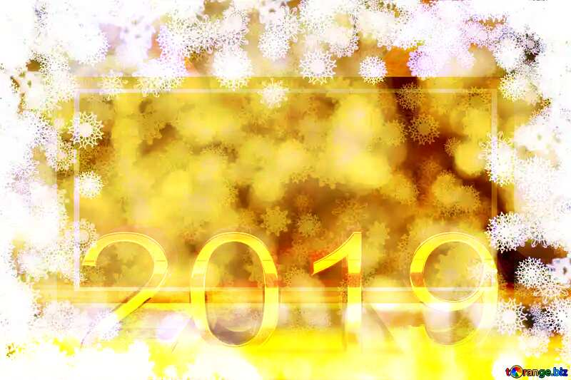 New year golden background 2019 3d render gold digits with reflections dark background isolated snowflakes powerpoint website infographic template banner layout design responsive brochure business №40719