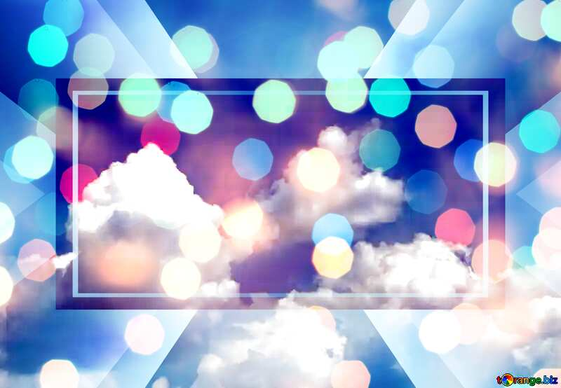 Sky with clouds happy birthday card bokeh background powerpoint website infographic template banner layout design responsive brochure business №31547